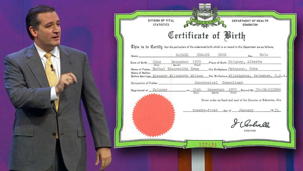 cruz ted canadian citizenship renounce certificate wfaa tea favorite birth