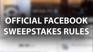Facebook Sweepstakes Rules