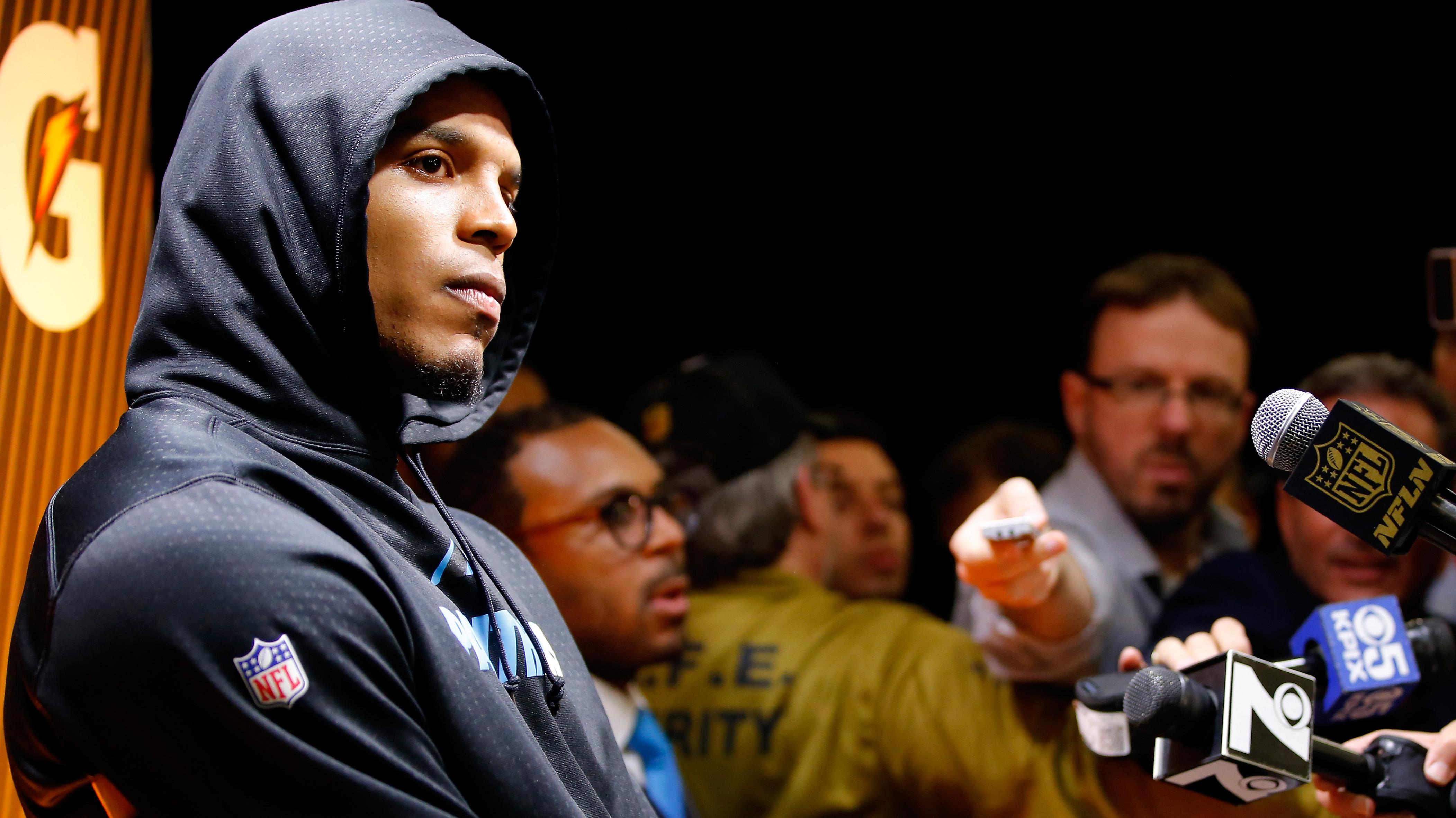 Cam Newton defends Super Bowl media walkout: 'I'm a sore ...