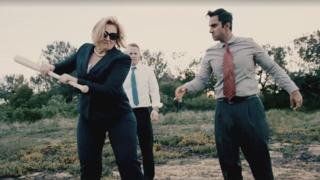 Cruz jabs at Clinton in online video