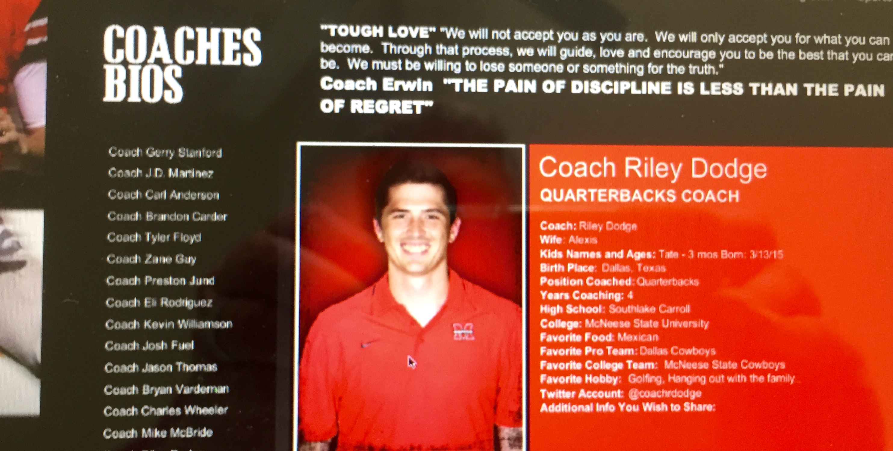 Riley Dodge be e Flower Mound Marcus offensive coordinator