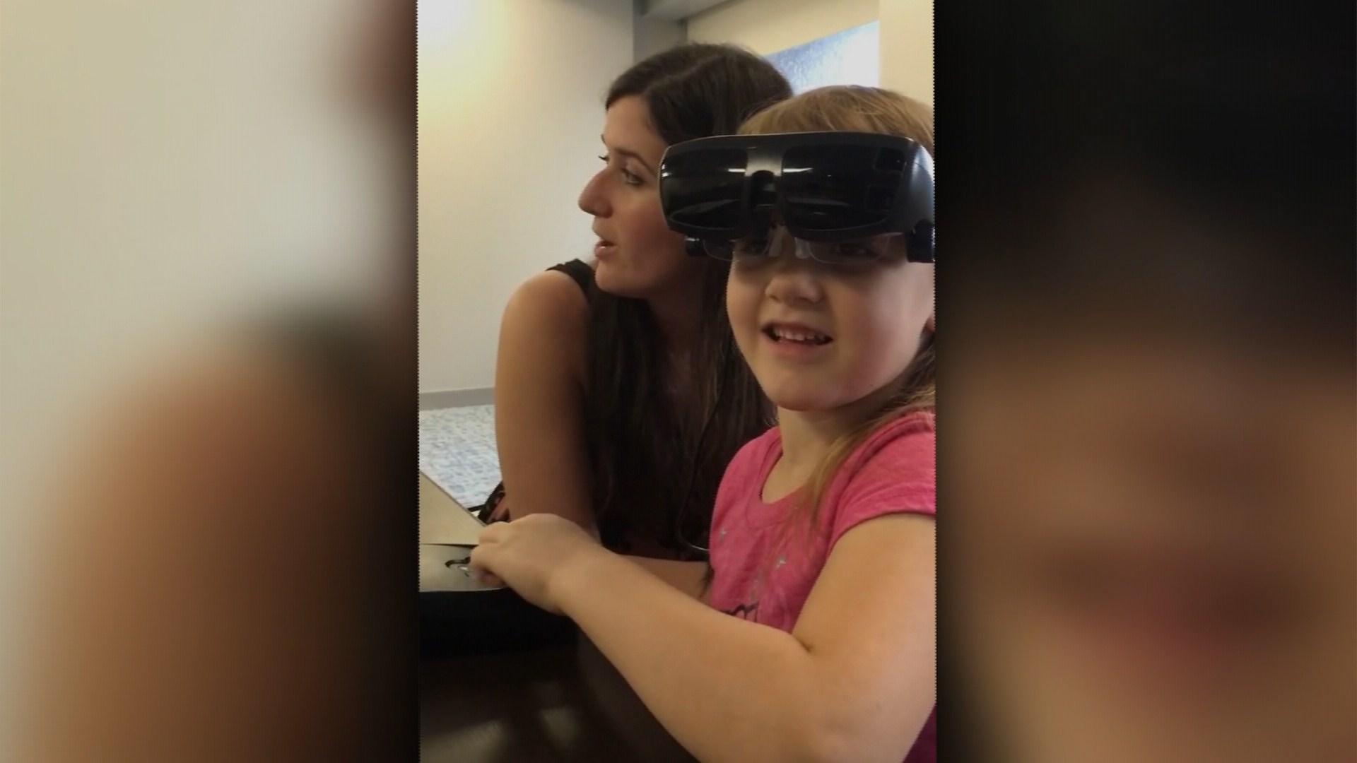 Expensive High Tech Glasses Help Girl See Clearly For 1st