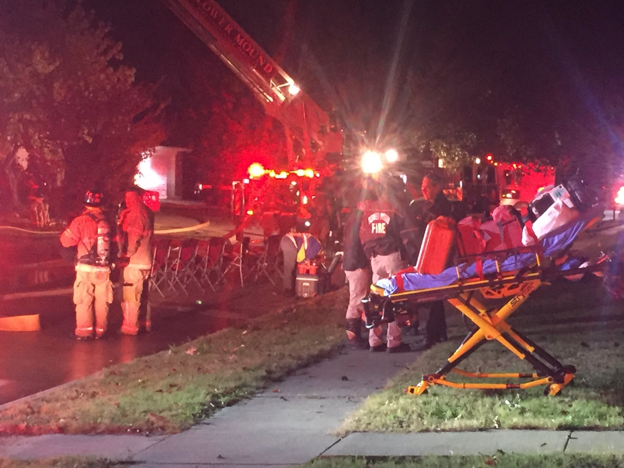 Woman rescued from Flower Mound house fire