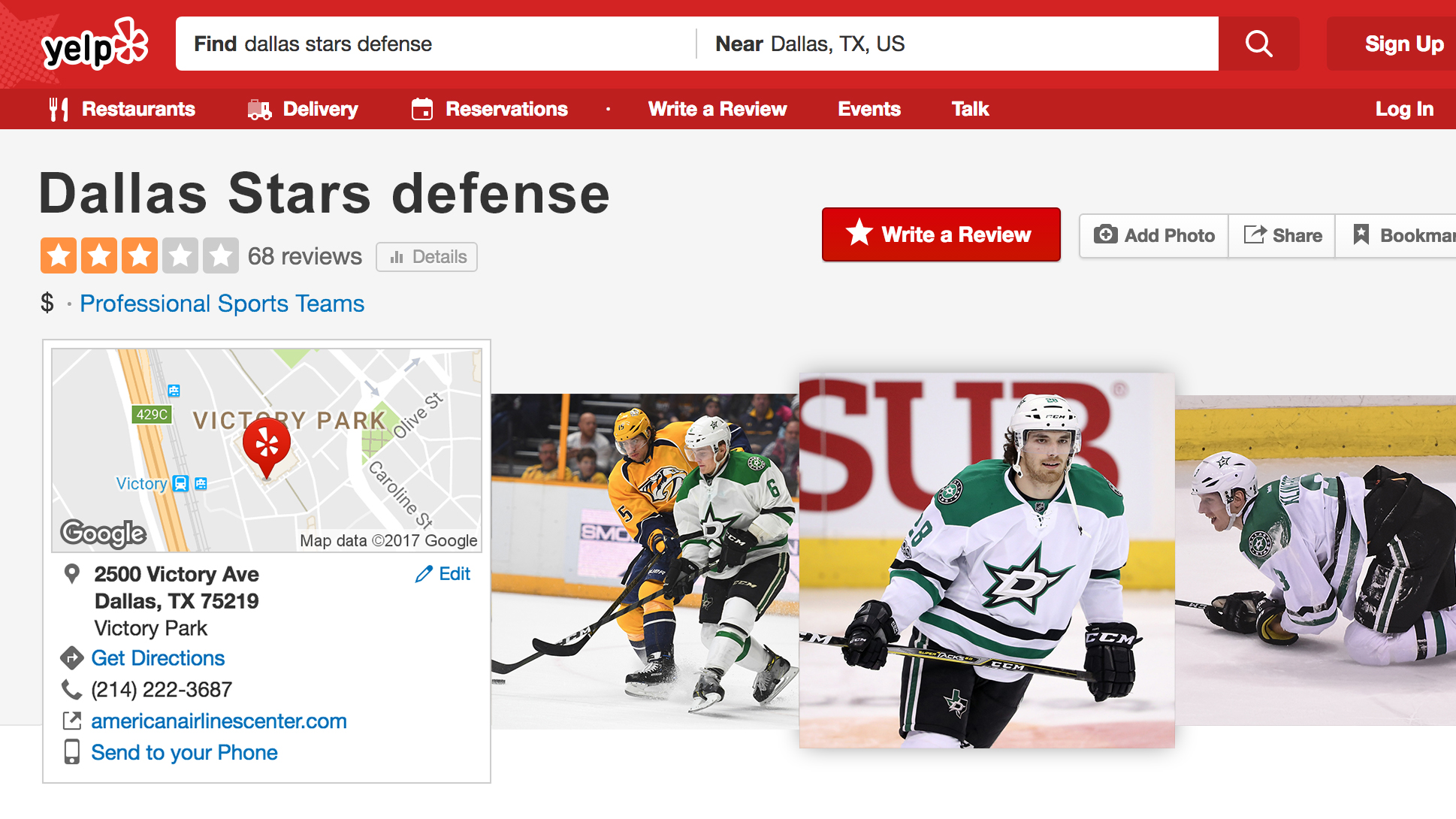 Where Did It Go Wrong Grading Out The Stars Goalies WFAAcom - Map of us pro sports teams