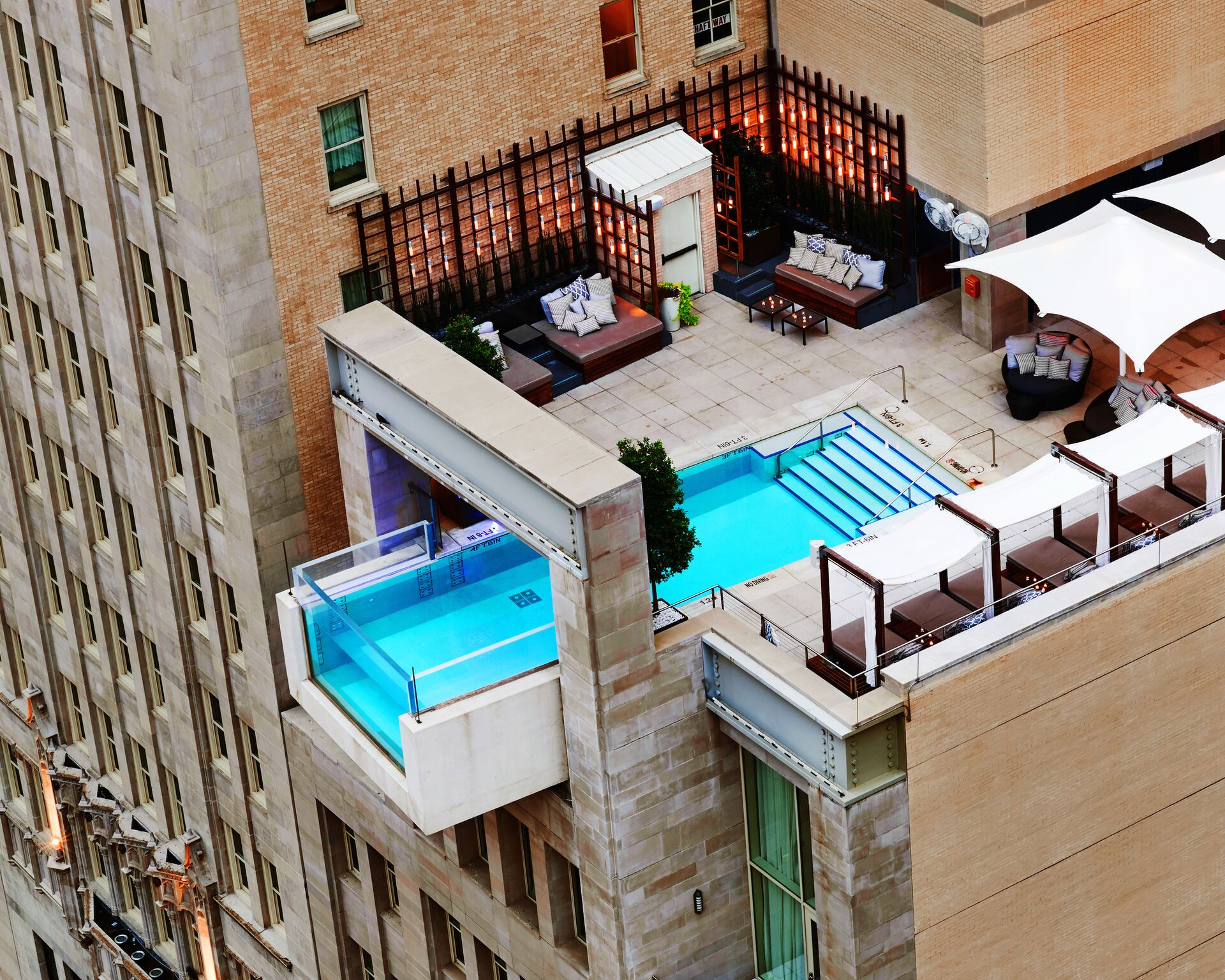 did you know dallas infinity pool at the joule hotel