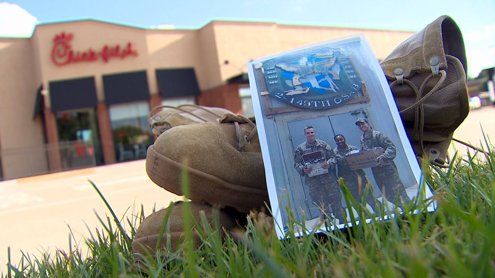 Flower Mound Chick fil A satisfies craving for local sol r serving in Iraq