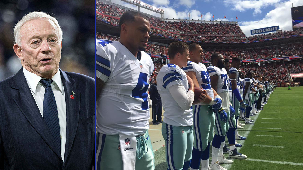 Jerry Jones: Flag should be 'recognized in a positive way' during anthem